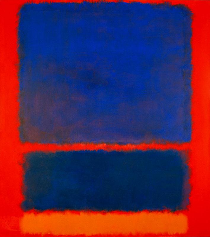 Mark Rothko, Blue, Orange, Red, 1961