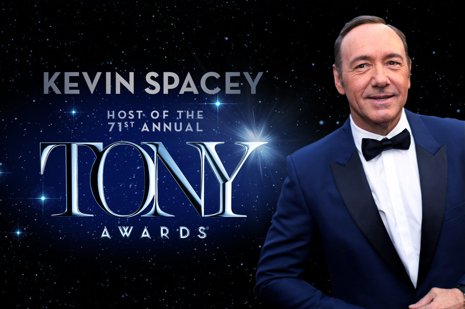 Kevin Spacey, Host of the 2017 Tony Awards, June 11 on CBS. Photo by: Photo by Christopher Polk/Getty Images