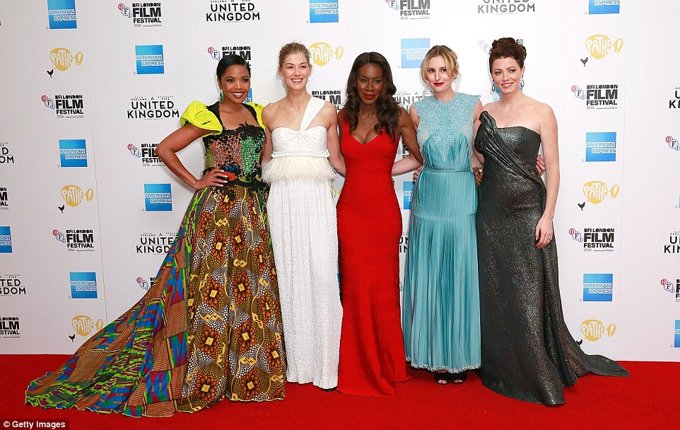 'A United Kingdom' cast at the BFI gala@PA