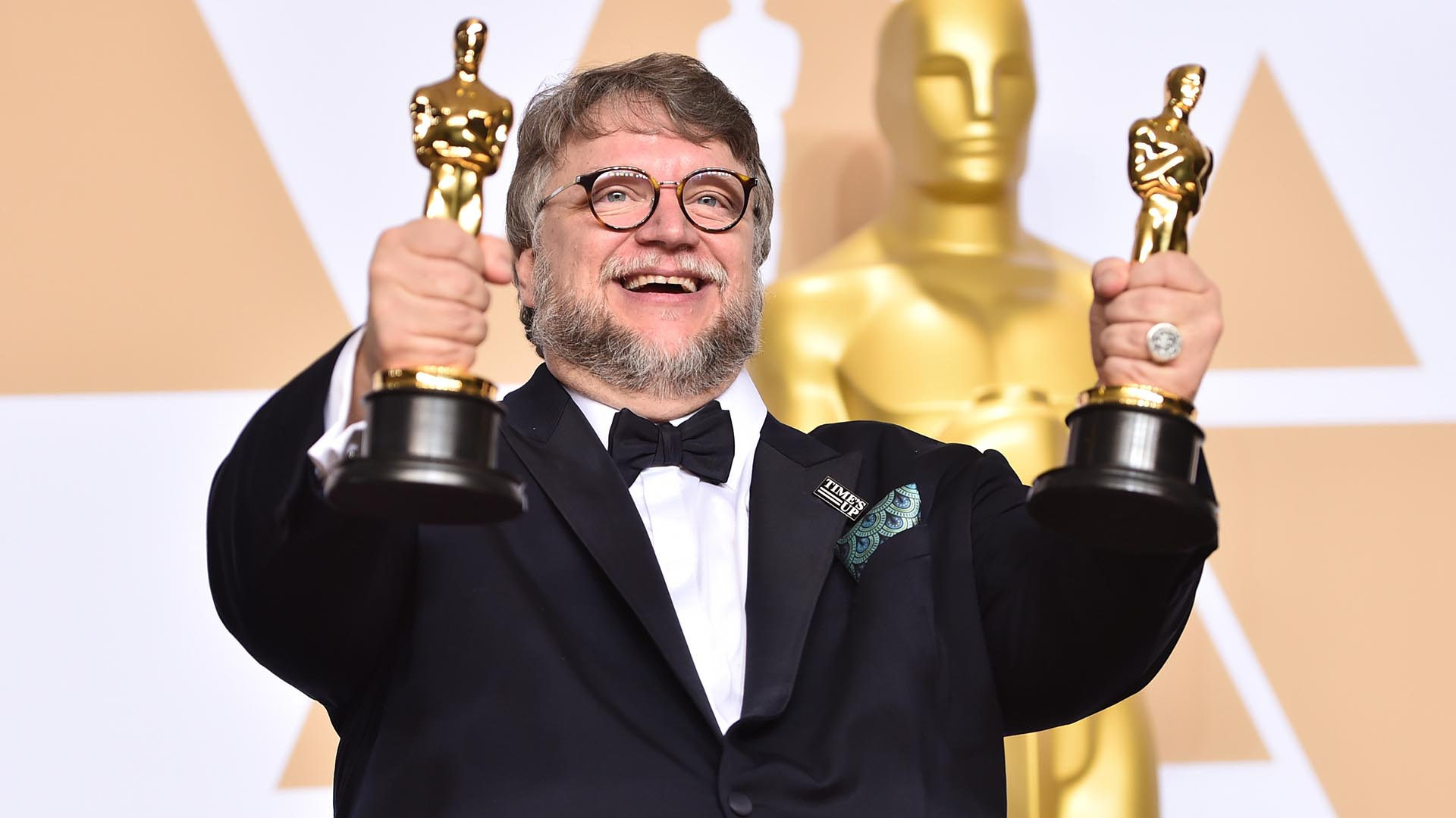 HOLLYWOOD, CA - MARCH 04: Filmmaker Guillermo del Toro, winner of the Best Director and Best Picture awards for 'The Shape of Water,' poses in the press room during the 90th Annual Academy Awards at Hollywood & Highland Center on March 4, 2018 in Hollywood, California. (Photo by Alberto E. Rodriguez/Getty Images)